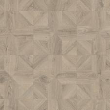 Ламинат влагостойкий Quick-Step IMPRESSIVE PATTERNS Дуб серый теплый брашированный IPA4141, плитка