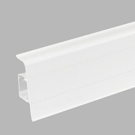 Плинтус Arbiton Lars 40 белый матовый,2500х70х26мм
